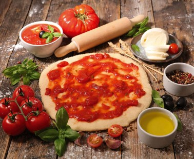 Pizza with Homemade Sauce