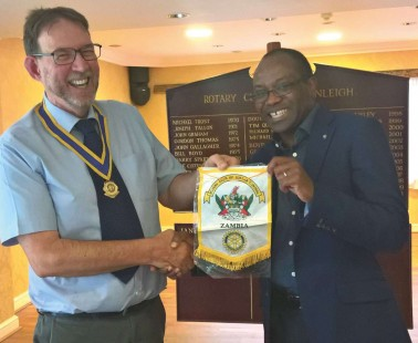 Cranleigh Rotarian Works on Projects in Zambia