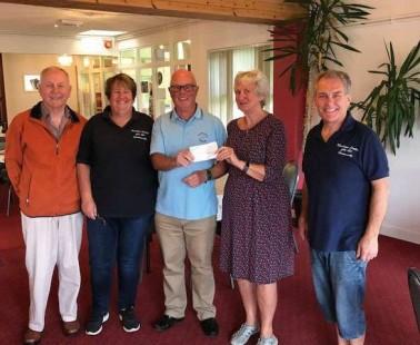 Cheque Presentation at Rowleys Community Centre