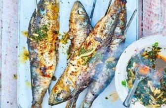 BBQ Sardines with Chermoula sauce